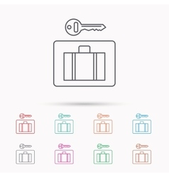 Luggage icon baggage security sign vector
