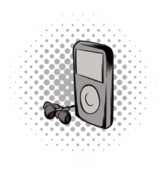 Mp3 player comics icon vector