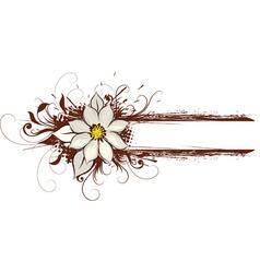 brown floral art vector image