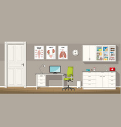 a doctor office vector image