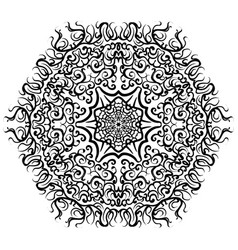 Abstract mandala circular monochrome pattern vector