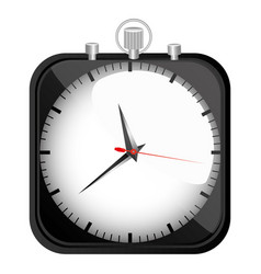 black stopwatch time icon vector image