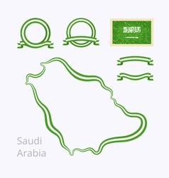 Colors of saudi arabia vector
