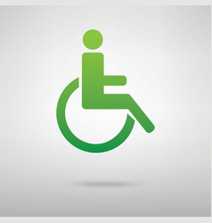 Disabled symbol green icon vector