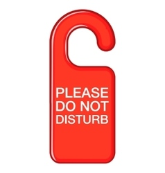 Do not disturb red sign icon cartoon style vector image