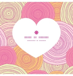 Doodle circle texture heart silhouette pattern vector