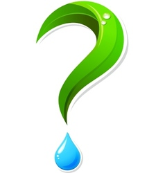 Ecology question mark icon vector image