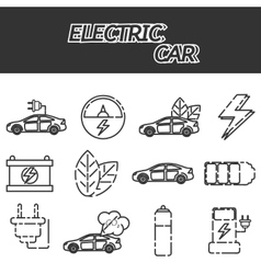 Electric car icon set vector image vector image