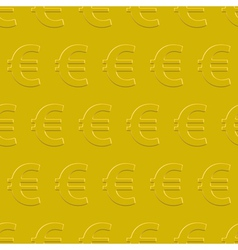 Euro pattern vector image vector image