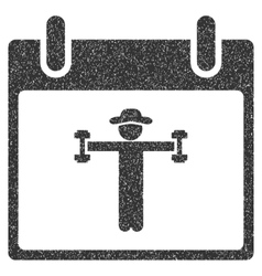 Fitness calendar day grainy texture icon vector