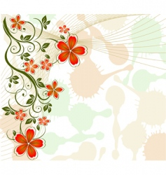floral vine background vector image