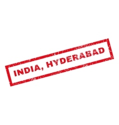 India hyderabad rubber stamp vector
