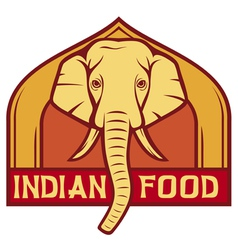 indian food label design vector image vector image