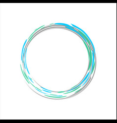 Light blue motion zen symbol vector