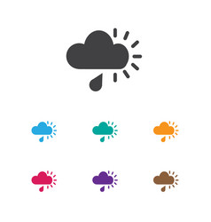 of air symbol on rainy cloud vector image vector image