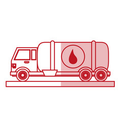 Oil cargo truck design vector