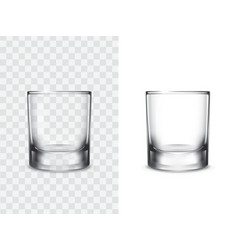 realistic drinking glasses vector image vector image