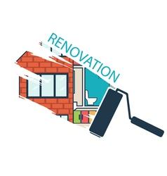 Renovation house remodelingflat design vector