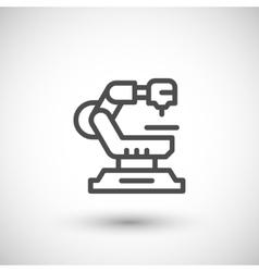 Robotic machine line icon vector
