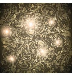 Seamless dark floral wallpaper vector