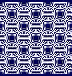Seamless pattern on tibetan motifs vector