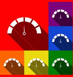 speedometer sign set of vector image