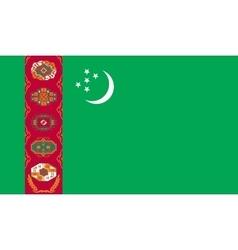 Turkmenistan flag image vector image vector image