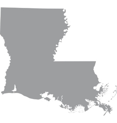 US state of Louisiana vector image vector image