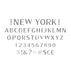 Vintage label font with decorative shadow vector