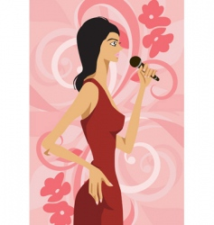 woman karaoke vector image