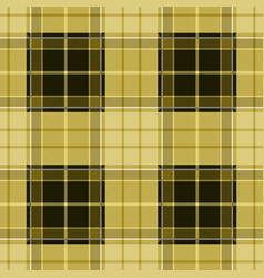 Yellow tartan plaid seamless pattern vector