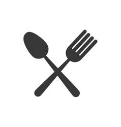 Fork spoon cutlery icon graphic vector