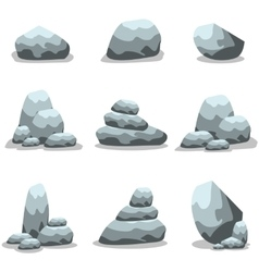 Stones and rocks in cartoon style vector