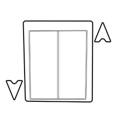 Lift icon outline style vector
