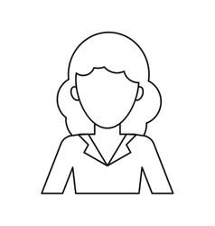 Woman professional work office thin line vector