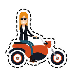 Motorcycle or motorbike icon image vector