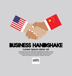 Business Handshake EPS10 vector image