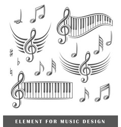 Treble clef and notes vector