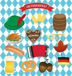 Oktoberfest icons set vector