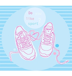 Blue sneakers vector