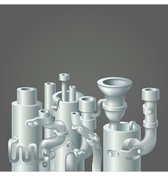 Industrial metal pipe stack design ecology vector