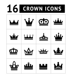 Set of crown icons vector