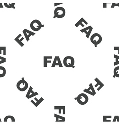Faq pattern vector