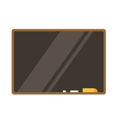 Empty board isolated back to school education vector