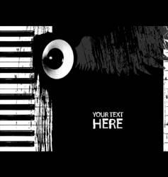 Dirty piano keys and speaker vector