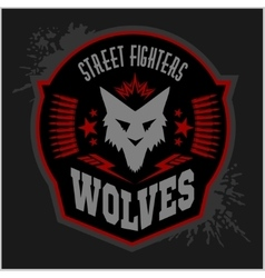 Wolves - military label badges and design vector