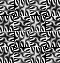 Black and white striped squares vector