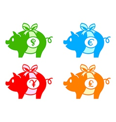 Piggy banks vector