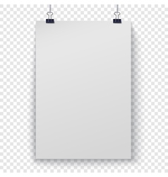 Poster template on checker background vector image