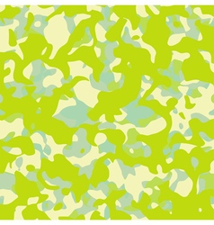Abstract camouflage pattern in mixed green yellow vector